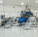 Flugzeugdock für Hubschrauber / für den Rumpf / feststehend / mobiler