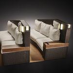 Sitz für Geschäfsflugzeug / VIP / mit Armlehnen / mit integriertem Bildschirm