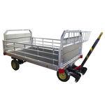 carro de equipaje para el apoyo desde tierra / con 4 ruedas / abierto