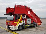 escalerilla de emergencia / telescópica / para avión / para pasajeros
