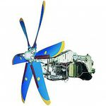Turbopropulsor con compresor axial / para avión de línea TV3-117VMA-SBM1 MOTOR SICH, JSC