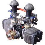 motor de émbolo 10 - 50 caballos / 0 - 10 kg / de 2 tiempos / de 2 cilindros
