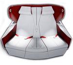asiento para cabina de avión / para business class / con pantalla integrada / con reposabrazos