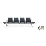 asiento con estructura modular para aeropuerto / de metal / 4 plazas / con alimentación integrada