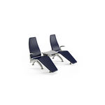 asiento con estructura modular para aeropuerto / 2 plazas / de metal