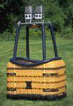 barquilla para globo aerostático no seccionada / rectangular / sin asientos