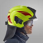 casco para agente de pista / de cara descubierta / con visera / de protección contra el fuego