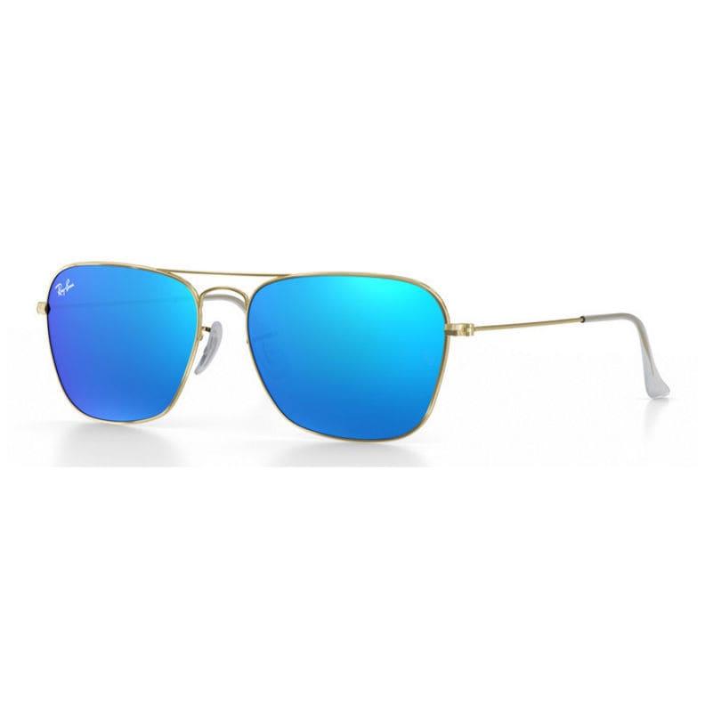 Aviator Sunglasses-blue Miroir Lunettes polarisées pilotes Classe A, gold frame blue