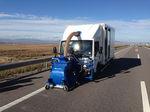 machine de nettoyage montée sur camion / pour enlèvement de caoutchouc / de grenaillage / pour la piste