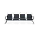 sièges sur poutre pour aéroport / 4 places / en métal / avec alimentation intégrée