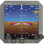 horizon artificiel électronique / 5.4 pouces / à moteur électrique / rétroéclairage à LED