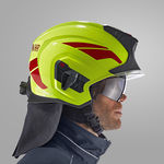 casque pour agent de piste / à faces dégagées / avec visière / de protection contre le feu