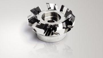 Shell-end milling cutter / for aluminum / face / insert