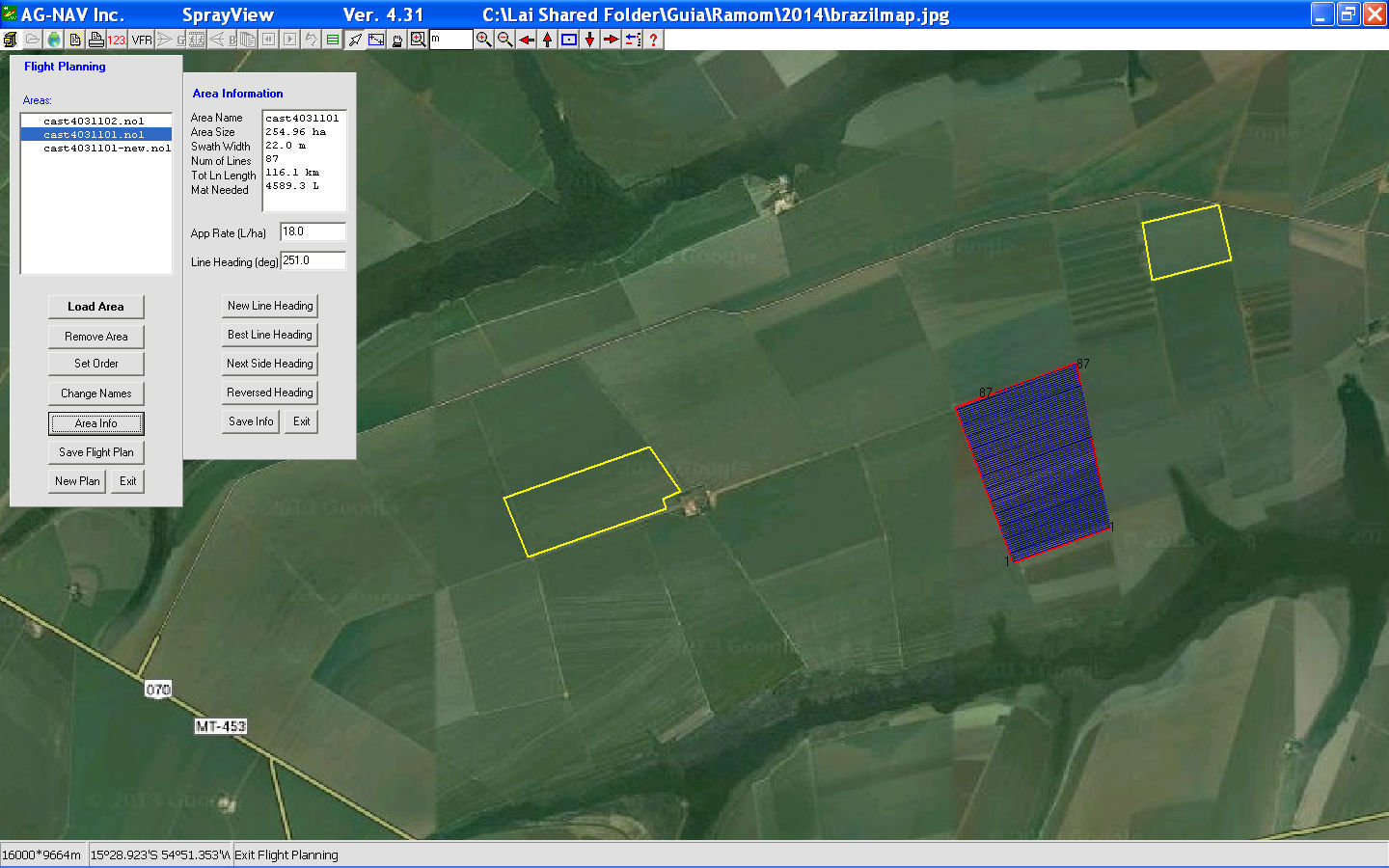 Flight analysis software / flight planning / GPS / for mapping - GIS