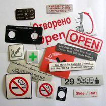Aircraft placard / information / signing / adhesif