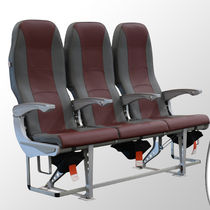 Aircraft cabin seat / economy class / fabric / leather