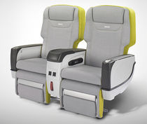 Business jet seat / business class / with adjustable headrest / with integrated screen