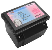 Fixed document reader / for ID / for airports / with barcode reader