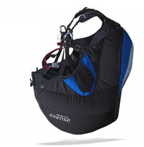 Paragliding reversible harness / monoplace / airbag