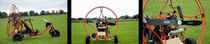 Single-seat ultralight trike carts / aluminum / with engine