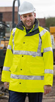 Work clothing / vest / high-visibility / waterproof