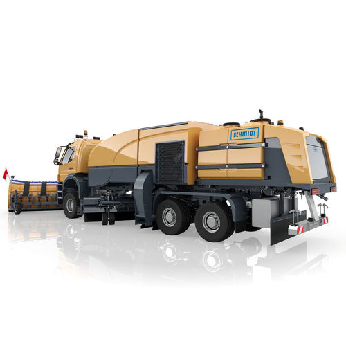 truck-mounted sweeper / compact / for airports