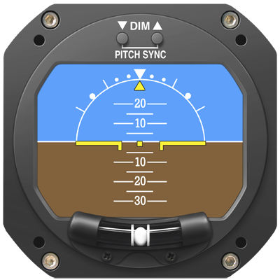 digital artificial horizon / 2-inch / 3-inch