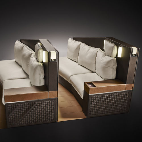 business aircraft seat / VIP / with armrests / with integrated screen