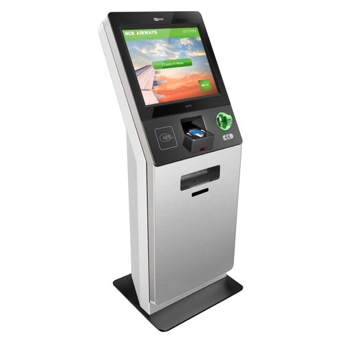 check-in kiosk with card payment system / with boarding pass reader / multi-purpose / with printer