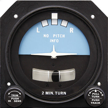 analog turn indicator / electric / illuminated / for aircraft