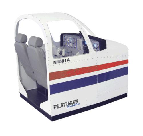 flight simulator / training / with enclosed cockpit