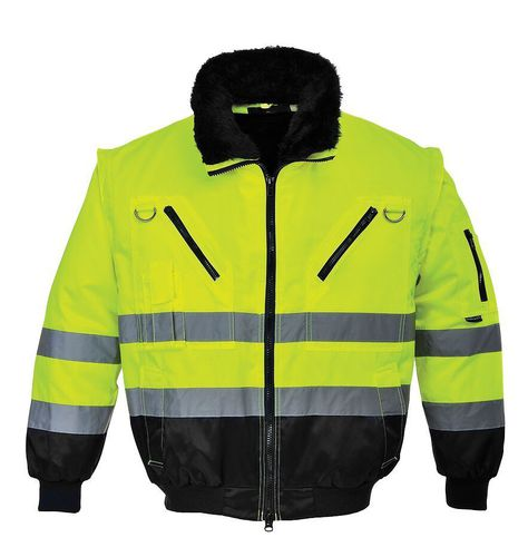 work jacket / for ground support personnel / high-visibility