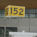 Information signage / static / for airport terminals / LED ASIS-H-T  AIRSAFE AIRPORT EQUIPMENT CO., LTD.