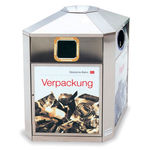 airport waste bin / floor-mounted / with built-in ashtray