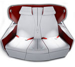 aircraft cabin seat / business class / with integrated screen / with armrests