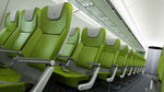 aircraft cabin seat / economy class / with integrated screen / with table