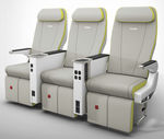 aircraft cabin seat / business class / economy class / with integrated screen