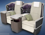 Aircraft cabin seat / for business class / with adjustable headrest / flat bed VantageXL Thompson Aero Seating