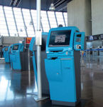 self-service check-in kiosk / with CUSS / with passport reader / floor-standing