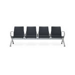 airport beam chairs / 4-seater / metal / with integrated power supply