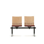 Airport beam chairs / wooden / 2-seater / 3-seater SB14SS Senator