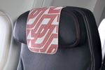 aircraft cabin headrest cover
