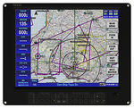avionics instrument aircraft cabin display / 1024 x 768 / touch screen / LED