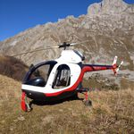 single-rotor ULM helicopter / utility operations / piston engine