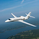 Super mid-size business jet / turbofan Citation Sovereign+ AeroExpo - Test 2