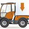 multi-use tractor / with towbar / for aircraft / with cab