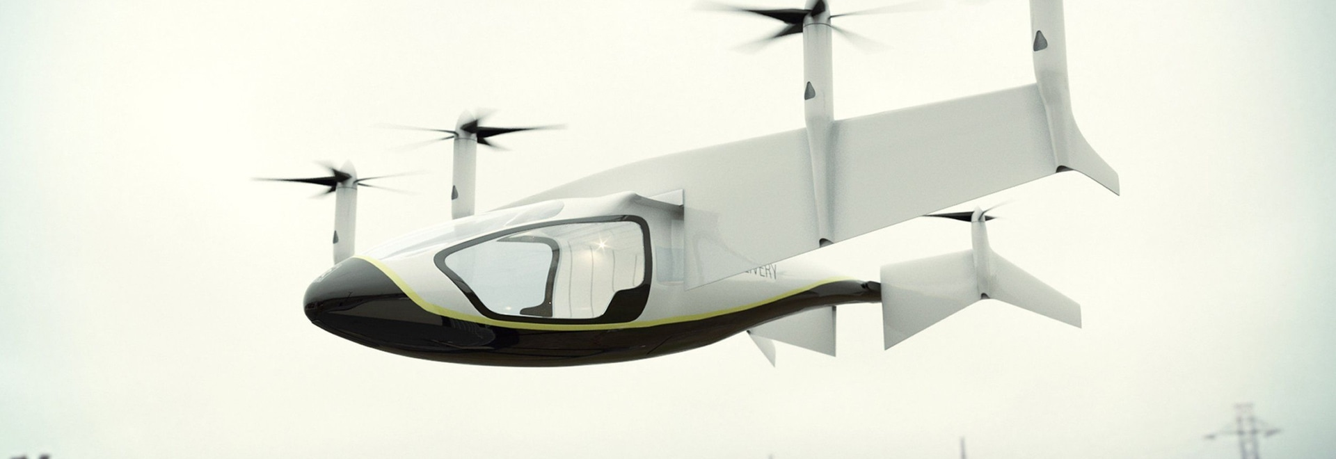 The Rolls-Royce electric hybrid EVTOL conceptual design unveiled at Farnborough 2018. Image courtesy of Rolls Royce