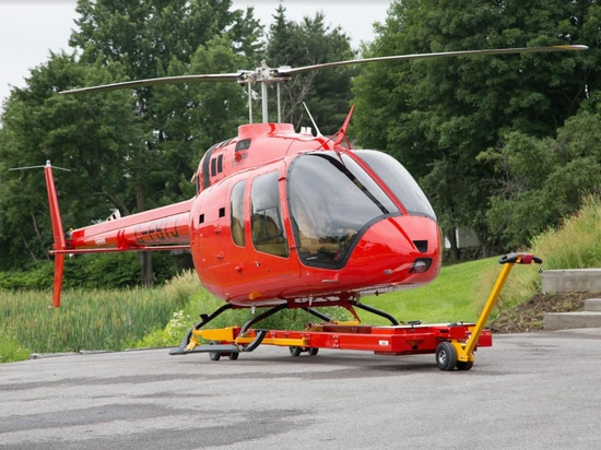 Helitowcart adapts its moving solutions for the Bell 505