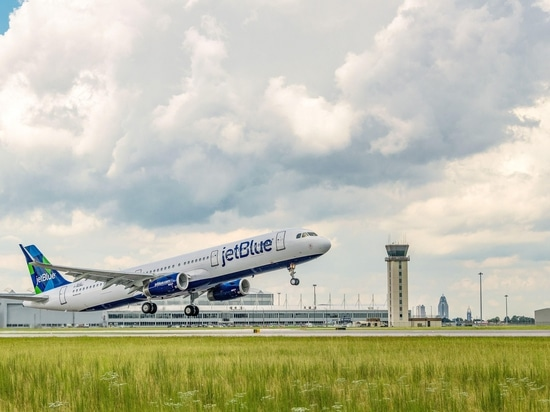 JetBlue receives renewable-fuel powered A321 aircraft from Airbus