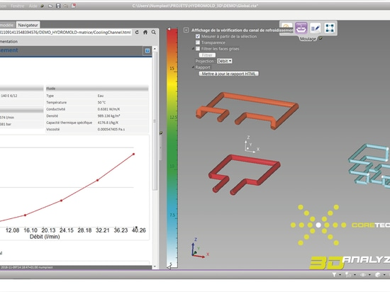 3D_Analyzer Plastic Edition® integrates HydroMold® for the design of hydraulic systems